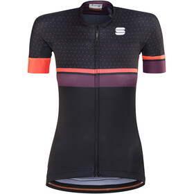 Sportful Diva Bike Jersey Shortsleeve Women purple/black